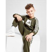 adidas Badge Of Sport Box Crew Tracksuit Children - Only at JD - Grün - Kids, Grün