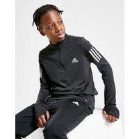 adidas 3-Stripes 1/4 Zip Top Kinder - Schwarz - Kids, Schwarz