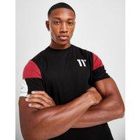 11 Degrees Carbon Colour Block T-Shirt - Schwarz - Mens, Schwarz