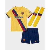 Nike FC Barcelona Away Younger Kids  Kit   Varsity Maize