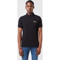 Mens Barbour International Short Sleeve Polo Shirt - Black/Black, Black/Black