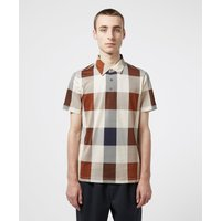 Mens Aquascutum Cody Oversize Check Short Sleeve Polo Shirt - Brown, Brown
