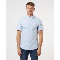Mens Farah Brewer Short Sleeve Shirt - Blue, Blue