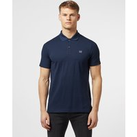 Mens Paul and Shark Short Sleeve Pique Polo Shirt - Navy/Navy, Navy/Navy
