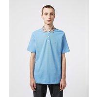 Mens Aquascutum Club Check Collar Short Sleeve Polo Shirt - Blue, Blue