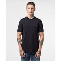 Mens Fred Perry Bomber Collar Polo Shirt Mens - Black/Black, Black/Black