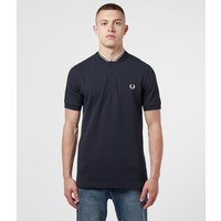 Mens Fred Perry Bomber Collar Polo Shirt Mens - Navy/White, Navy/White