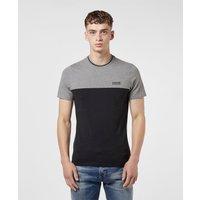 Mens Barbour International Blocker Short Sleeve T-Shirt - Black/Grey, Black/Grey