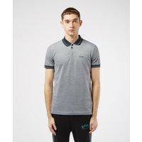 Mens BOSS Paule Jacquard Short Sleeve Polo Shirt - Navy, Navy