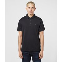 Mens Michael Kors Sleek Short Sleeve Polo Shirt - Black, Black