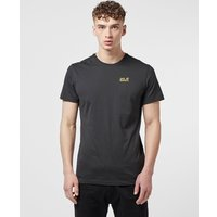 Mens Jack Wolfskin Essential Short Sleeve T-Shirt - Black, Black