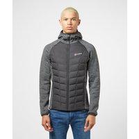 Mens Berghaus Duneline Hybrid Fleece Jacket - Black, Black