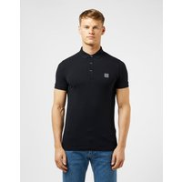 Mens BOSS Passenger Short Sleeve Polo Shirt - Black/Black, Black/Black