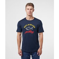 Mens Paul and Shark Core Logo Short Sleeve T-Shirt - Navy/Navy, Navy/Navy
