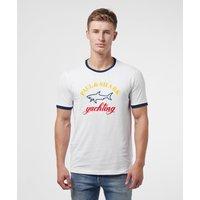Mens Paul and Shark Core Logo Short Sleeve T-Shirt - White, White