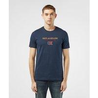 Mens Paul and Shark Heritage Flag Short Sleeve T-Shirt - Navy, Navy