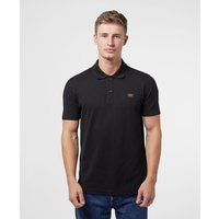 Mens Paul and Shark Core Short Sleeve Polo Shirt - Black/Black, Black/Black