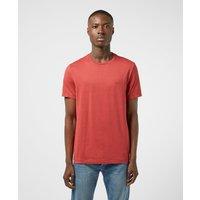 Mens Michael Kors Garment Dyed Short Sleeve T-Shirt - Red, Red