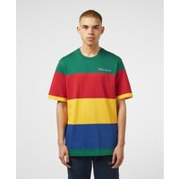 Mens Champion Block Stripe Short Sleeve T-Shirt - Multi/Multi, Multi/Multi