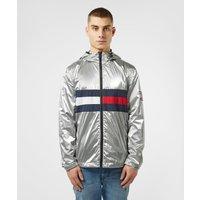 Mens Tommy Jeans Metallic Lightweight Jacket - Silver/Silver, Silver/Silver