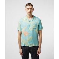 Mens Edwin Floral Resort Short Sleeve Shirt - Blue/Blue, Blue/Blue
