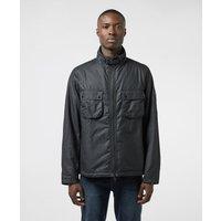 Mens Barbour International Tennant Wax Jacket - Black, Black
