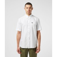 Mens Fred Perry Short Sleeve Oxford Shirt - White, White