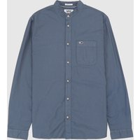 Mens Tommy Jeans Oxford Long Sleeve Shirt - Navy/Navy, Navy/Navy