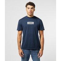 Mens Tommy Jeans Box Logo Short Sleeve T-Shirt - Navy/Navy, Navy/Navy