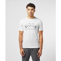 Mens BOSS Split Logo Short Sleeve T-Shirt - White, White