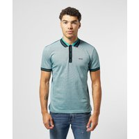 Mens BOSS Paddy Jacquard Short Sleeve Polo Shirt - Blue/Black, Blue/Black
