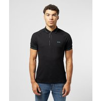 Mens BOSS Philix Pinstripe Short Sleeve Polo Shirt - Black, Black