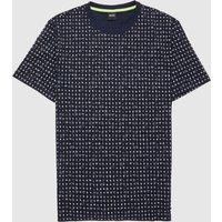 Mens BOSS Tepol All Over Print Short Sleeve T-Shirt - Navy/Navy, Navy/Navy