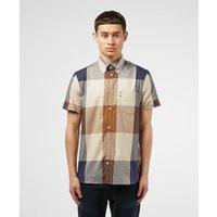 Mens Aquascutum Henlake Short Sleeve Shirt - Brown, Brown
