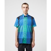 Mens Aquascutum Henlake Short Sleeve Shirt - Blue, Blue
