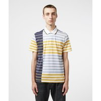 Mens Aquascutum Northfleet Short Sleeve Polo Shirt - Navy/Lime, Navy/Lime