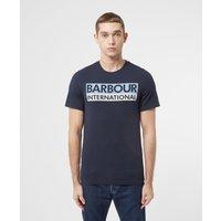 Mens Barbour International Cap Logo T-Shirt - Navy/Navy, Navy/Navy