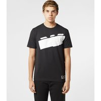 Mens Emporio Armani EA7 Eagle Short Sleeve T-Shirt - Black/Black, Black/Black