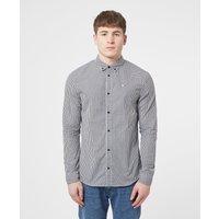 Mens Tommy Jeans Essential Gingham Shirt - Black/Black, Black/Black