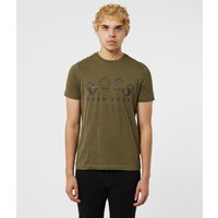 Mens BOSS Tee 1 Curve Short Sleeve T-Shirt - Green, Green