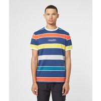 Mens Nautica Competition Adviso Stripe Short Sleeve T-Shirt - Navy/Navy, Navy/Navy