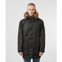Mens Barbour International Race Wax Parka Jacket - Black, Black