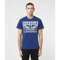 Mens Barbour International Flag Short Sleeve T-Shirt - Blue/Blue, Blue/Blue