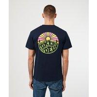 Mens Hikerdelic Original Logo T-Shirt - Navy/Navy, Navy/Navy