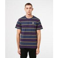Mens Hikerdelic Wide Stripe Short Sleeve T-Shirt - Navy/Purple, Navy/Purple
