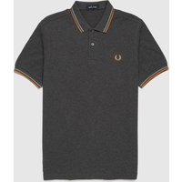 Mens Fred Perry Twin Tipped Polo Shirt - Grey, Grey