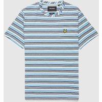 Mens Lyle and Scott Multi Stripe T-Shirt - Blue, Blue