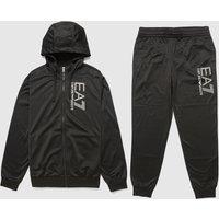 Mens Emporio Armani EA7 Visibility Logo Tracksuit - Black, Black