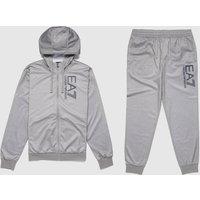 Mens Emporio Armani EA7 Visibility Logo Tracksuit - Grey/Grey, Grey/Grey