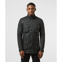 Mens Barbour Corbridge Wax Jacket - Black, Black